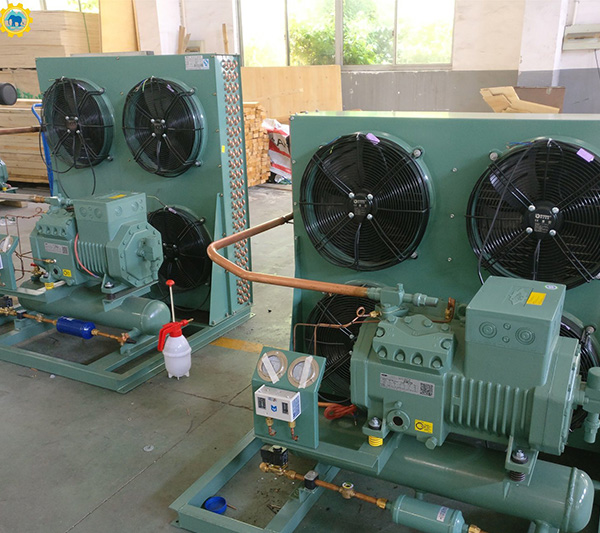 Bitzer Semi-Hermetic Piston Industrial Commercial Refrigeration Compressor Equipment with Air or Water Cooled Condensing Unit