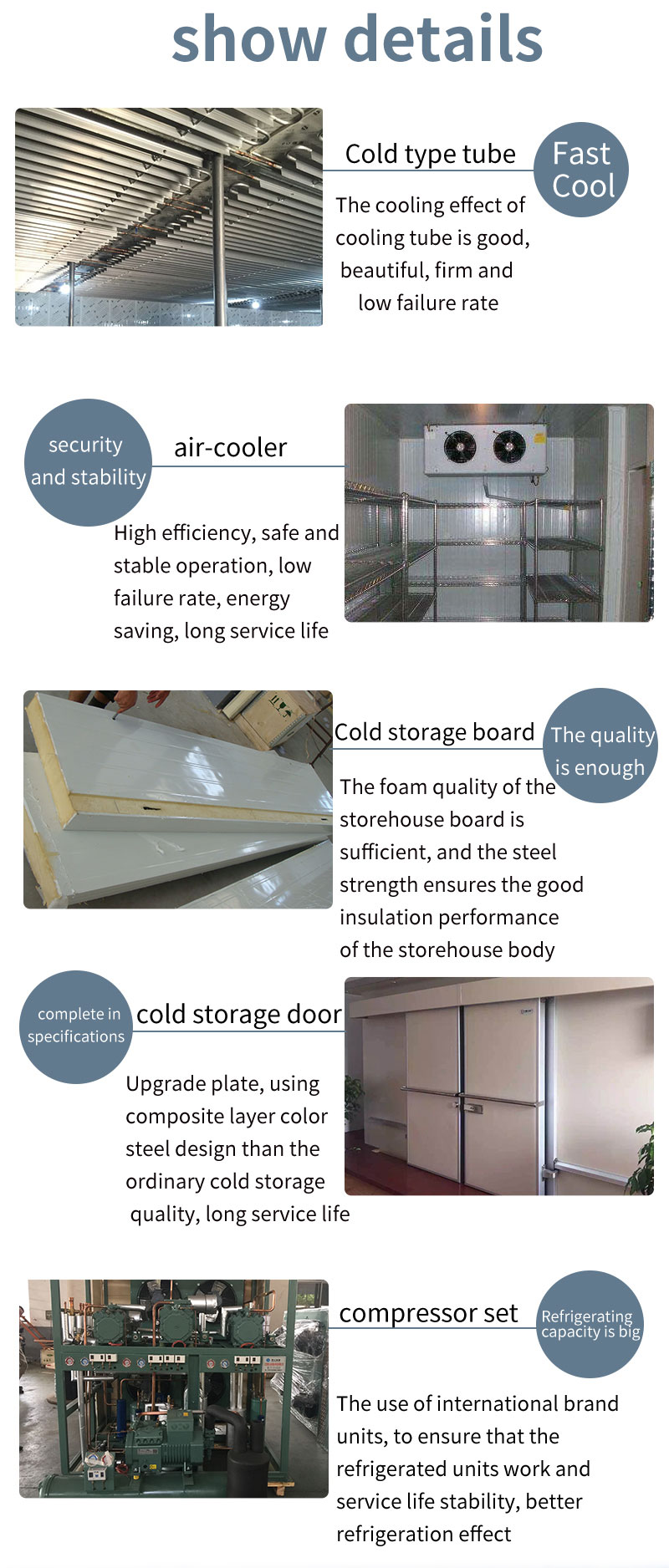 Blast Freezer PU Panel Cold Room for Chiller and Freezer9
